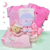 Personalized Sleepy Bear Newborn Basket