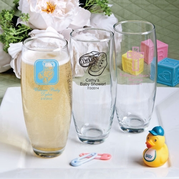 Personalized Stemless Glass Flutes