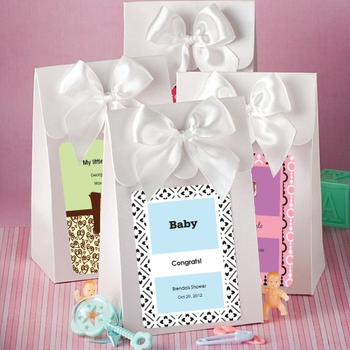 Personalized White Favor Boxes