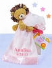 Pink Baby Blanket & Plush Lion