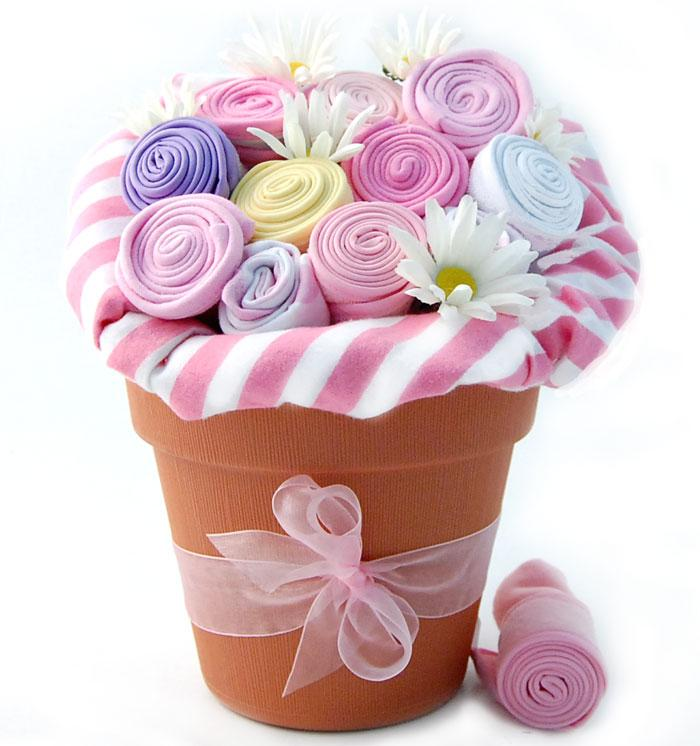 Pink baby bouquet for girls simplyuniquebabygifts free shipping negle Gallery