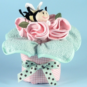 Pink Baby Cardigan Clothes Bouquet