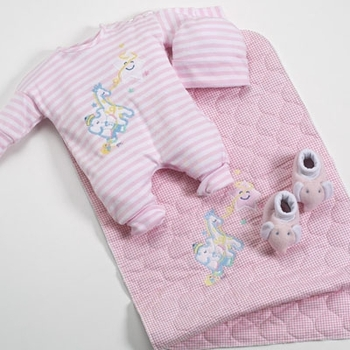 Pink Baby Outfit Set For Girls