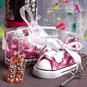 Pink Baby Sneaker Key Chains