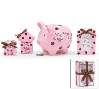 Pink Ceramic Keepsakes Set