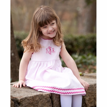 Pink on Pink Cotton Pique Dresses (Can be Personalized)