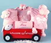 Pink Puppies Wagon For Girls