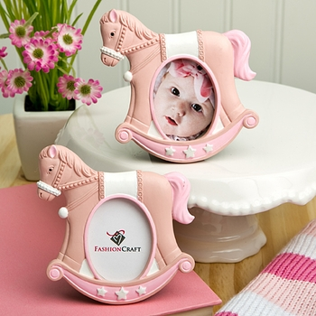Pink Rocking Horse Picture Frames Favor