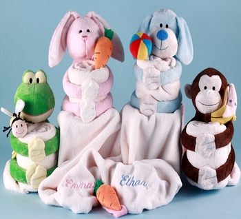 Plush Pals Receiving Blankets