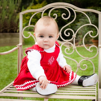Red Corduroy Baby Dress (Can be Personalized)