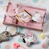Silver and Pink Pram Keychains