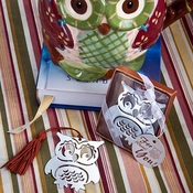 Silver Metal Owl Bookmarks