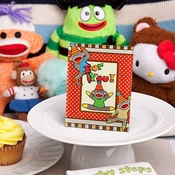 Sock Monkey Place Card Photo Frames