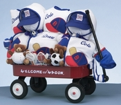 Shop over 30 unique twins triplets baby gifts sports themed wagon for twin boys can be personalized negle Image collections