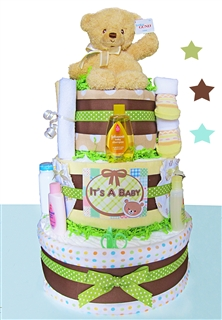 Teddy Bear 3 Tier Diaper Cake