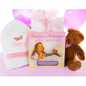 Teddy Bear & Prayers Girls Bath Towel Set