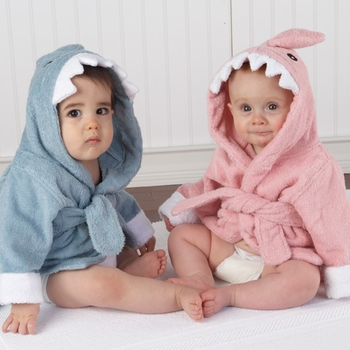 Terrycloth Shark Baby Robes (Personalization Available)