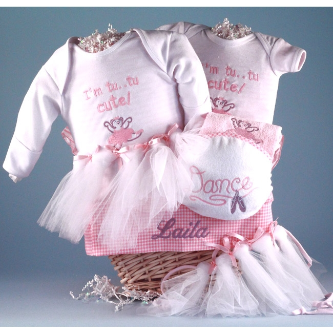 Tiny ballerina gift basket simplyuniquebabygifts free shipping negle Image collections