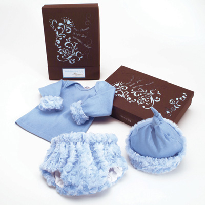 Pampered Baby Boy Outfit Gift Set | SimplyUniqueBabyGifts.com | Free Shipping
