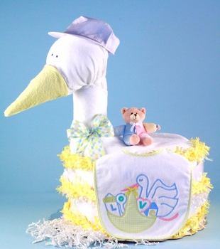 The Yellow Stork Diaper Cake