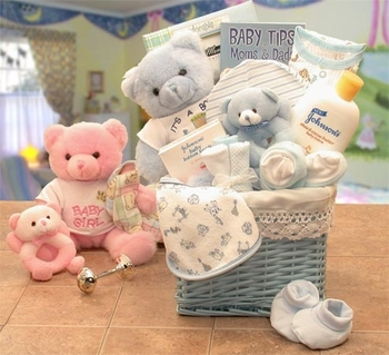 Welcome The Newborn Baby Basket For Boys Or Girls