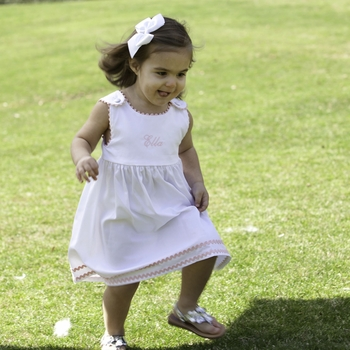 White Cotton Infant Sundress (Can Be Personalized)