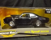 AmMuscle 29333     --     1973 Plymouth Duster   /  Factory Black   /    Limited Edition 1 of 402   1:18