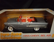 "AmMuscle 36685   --   ""two-lane blacktop'  1955 Chevy Bel Air  1:18"