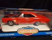 AmMuscle 7008     --      1969 Plymouth Road Runner  / Issue #2 Nutmeg Collectibles   1:18