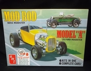 "AMT 1002/12    --     Mod Rod Boss Roadster & Model ""A"" '29 Ford Roadster  --  Build 2 Complete Kits   1:25"