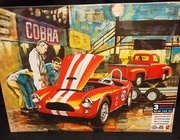 AMT 1073/06    --    'D'Amerique'  Grand Prix Cobra Racing Team  /  3 Complete Kits:  1963 Shelby Cobra, 1953 F-100 Pickup & Trailer   1:25