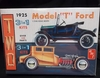 "AMT 626    --    Double ""T"" Kit  3'n1   Build 2 Complete Cars - 1925 Model ""T"" & ""T"" Chopped Coupe   1:25"