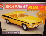 AMT 6785     --     Plymouth 'Cuda   SnapFast   1:25   (bad decals)
