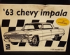 AMT 6834     --      '63 Chevy Impala    1:25   (rough decals)