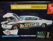 "AMT 877/12     --     1953 Studebaker ""Two Complete Engines"" 3'n1 - Stock, Custom, Bonneville Customizing Kit"