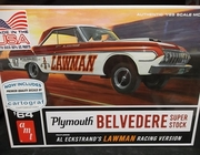 AMT 986   --    'Lawman'    '64 Plymouth Belvedere Super Stock  1:25