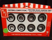 AMT pp002     --      Firestone Deluxe Champion Tires / Featuring Thin Stripe & Vintage Wide Whitewall Styles   1:25
