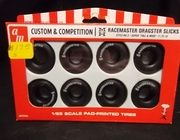 """AMT pp003     --     M&H Racemaster Dragster Slicks / Style No. 2 Super """"Tall & Wide"""" 11.75-16    1:25"""
