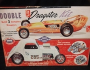 AMT T161     --    Double 3'n1 Dragster Kit  /  Build 2 Complete Dragsters  1:25