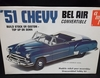AMT T272   --    '51 Chevy Bel Air Convertible  --  build Stock or Custom/Top Up or Down  1:25