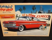 Gunze 168:700     --     1959 Chevy Impala Sports Coupe   1:32