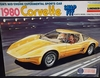 Lindberg 672  --    1980 Corvette    GM's Mid-Engine Experimental Sports Car  Snap-Fit  1:18