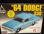 Lindberg 72176     --     '64 Dodge 330  /  includes parts for both 383 V-8 & Slant Six Engines 1:25
