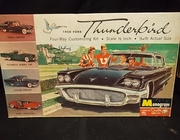 Monogram      --     1958 Ford Thunderbird  4-Way Customizing Kit  /   Molded in Black    1:24   (rough decals)