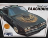 MPC 38438    --     Trans-Am Blackbird   w/roof  panel cut-outs & gold trim  1:25