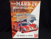 MPC 504-300  --   Ford Mark IV includes see-through trailer van/display case   1:25  (decals damaged)