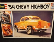 Revell 1375     --     '54 Chevy Highboy   1:25    (no decals/box has small tears)