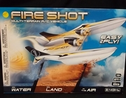 Revell 3991      --       'Fire Shot'   Multi-Terrain R/C Vehicle   /    works on water, land & air   /  includes controller, USB charger cable & 2 spare propellers   14 inches long