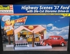 Revell 7800   --    Highway Scenes '37 Ford with Die-Cut Diorama Drive-In   1:24