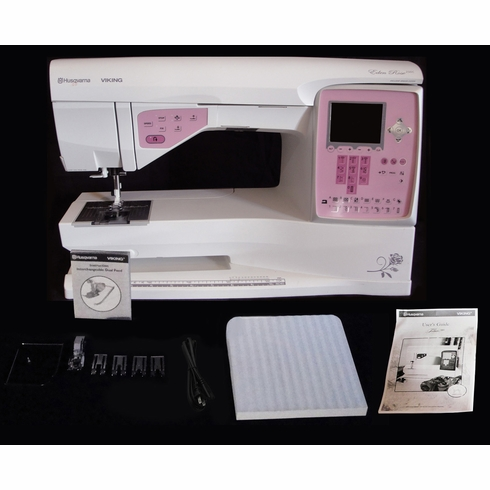 Husqvarna Viking Eden Rose 40C Limited Edition Computerized Sewing Fascinating Rose Sewing Machine